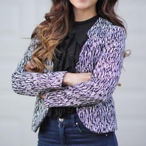 H&m black and white blazer jacket sz 4